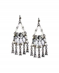 Lydell Nyc Mixed Crystal And Simulated Pearl Chandelier Earrings Multi