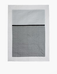Louise Gray Throw Quilt No. 9 Black Ivory