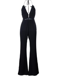 For Love And Lemons Open Back Jumpsuit Black