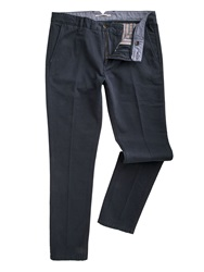 Racing Green Butler Flat Front Twill Chinos Navy