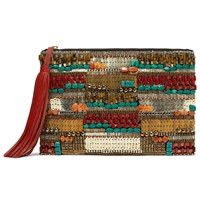 And Or Isabella Beaded Clutch Bag Multi