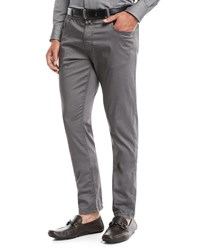 Neiman Marcus Stretch Cotton Five Pocket Pants Dark Gray