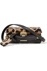 Mark Cross Grace Mini Leopard Print Calf Hair And Leather Shoulder Bag