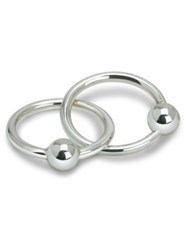 Cunill Two Ring Ball Baby Rattle Silver