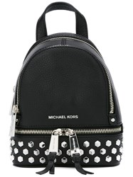Michael Michael Kors Extra Small Rhea Studded Backpack Black
