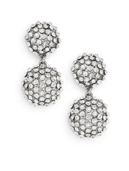 Amrita Singh Victorian Davis Glitz Double Drop Earrings Silvertone
