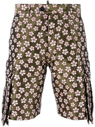 Dsquared2 Jacquard Flower Shorts Green