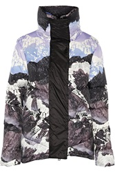 Peter Pilotto Printed Quilted Down Coat Purple