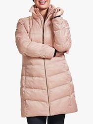 Four Seasons Wadded Three Quarter Length Coat White Pink