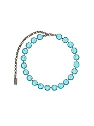 N 21 No21 Crystal Choker Necklace Blue