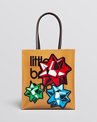 Bloomingdale's All Wrapped Up Little Brown Bag Patent Holiday Tote
