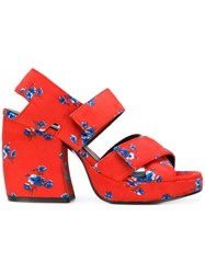 Kenzo Printed Chunky Sandals Red