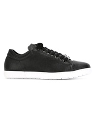 Giorgio Armani Low Top Lace Up Sneakers Black
