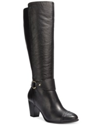 Giani Bernini Cagney Tall Wide Calf Boots Only At Macy's Women's Shoes Black