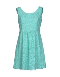 Duck Farm Short Dresses Turquoise