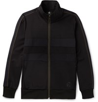 Paul Smith Ps By Panelled Jersey Zip Up Sweatshirt Black