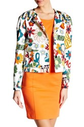 Love Moschino Flower Print Blazer White