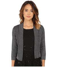 Rsvp Bre Shrug With Lurex Black Silver Women's Sweater