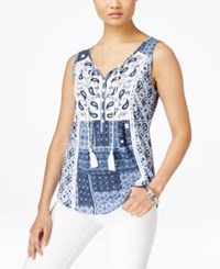 Styleandco. Style And Co. Printed Sleeveless Top Only At Macy's Freedom Batik