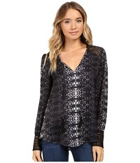 Tart Aubry Top Ombre Printed Lace Women's Clothing Black