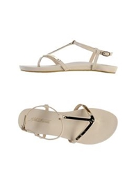 Fifth Avenue Shoe Repair Thong Sandals Beige