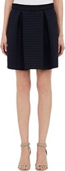 Sea Quilted Ponte Mini Skirt Blue Size 2 Us