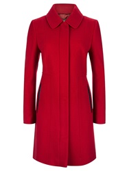 Planet Seam Detail Coat Mid Red