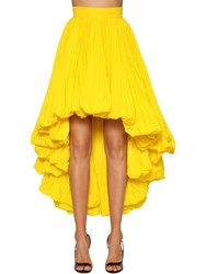Alexandre Vauthier Faille High Waist Asymmetric Skirt Yellow