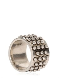Alexander Mcqueen Studded Metal Ring