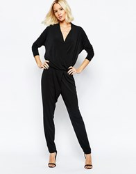 Selected Sadina Long Sleeved Jumpsuit Black