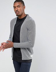 Tom Tailor Open Drape Cardigan In 100 Cotton Navy