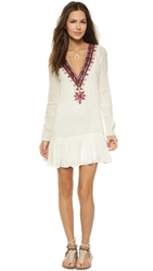 Twelfth St. By Cynthia Vincent Embroidered Dropwaist Dress Ivory