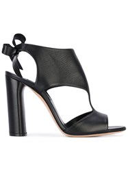 Casadei Cut Out Heeled Sandals Women Calf Leather Leather 37 Black