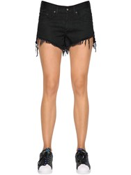 Ragandbone Jean Studded Stretch Cotton Denim Shorts