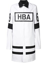 Hood By Air Logo Velcro Patch Coat White