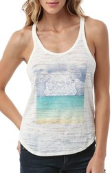 Junior Women's O'neill 'Sunset' Graphic Burnout Racerback Tank
