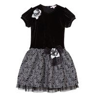Cutie And Cool Katie Party Dress Black Silver