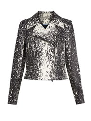 Diane Von Furstenberg Joneva Jacket Black White