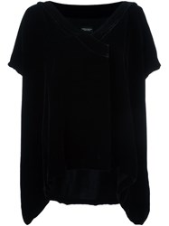 Marcelo Burlon County Of Milan Velvet Loose Top Black