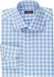 Fairfax Gingham End On End Shirt Blue