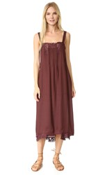 The Great Pintuck Slip Dress Wine