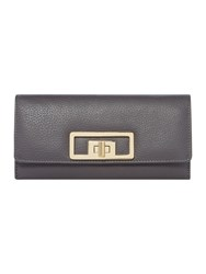 Linea Holly Large Flapover Leather Purse Grey