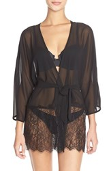 Only Hearts Club Women's Only Hearts 'Penelope' Chiffon And Lace Kimono Robe