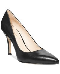 Nine West Flax Pointed Toe Pumps Women's Shoes Black Leather