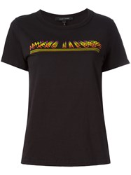 Marc Jacobs Logo Print T Shirt Black