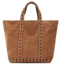 Vanessa Bruno Cabas Medium Embellished Suede Shopper Brown