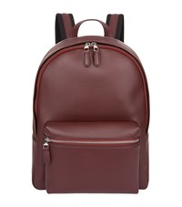 Dunhill Leather Backpack Burgundy