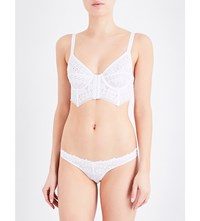 Free People White Out Lace Bustier