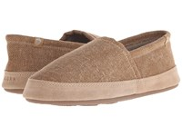 Acorn Moc Summerweight Toast Canvas Men's Slippers Beige