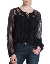 Plenty By Tracy Reese Tassel Accented Lace Blouse